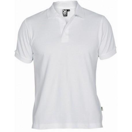 Bílé pánské tričko s límečkem, krátký rukáv