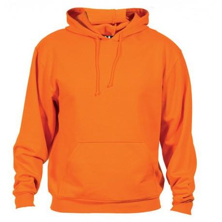 oranžová mikina s kapucí